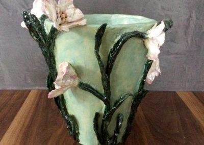 bloemenvaas turquoise
