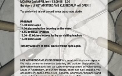 Opening van Het Amsterdams Kleibedrijf