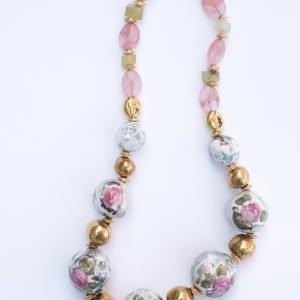ketting met rozen en goud romantisch sieraden
